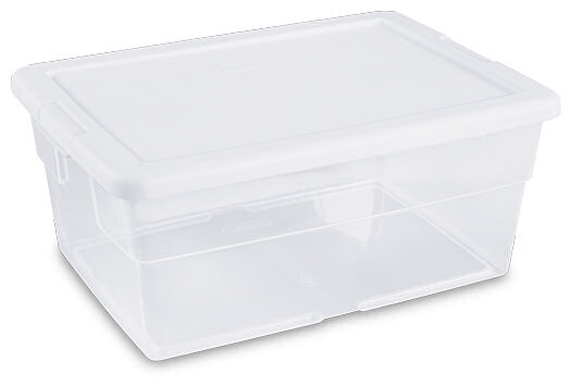 STERILITE 14101 16 Qt Storage Box Clear//White